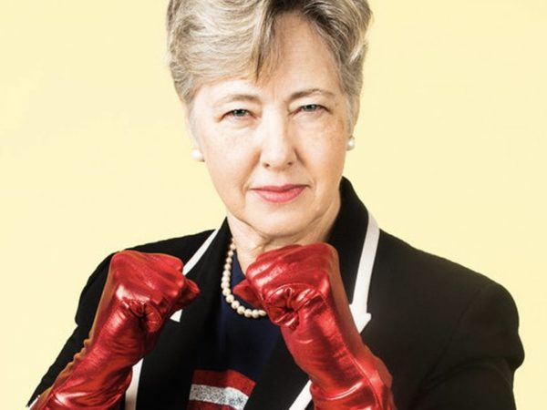Mayor Annise Parker photographed as a superhero by Seattle-area photographer Nate Gowdy